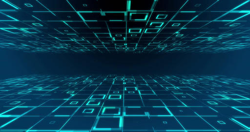 futuristic digital code number abstract technology background Animation
