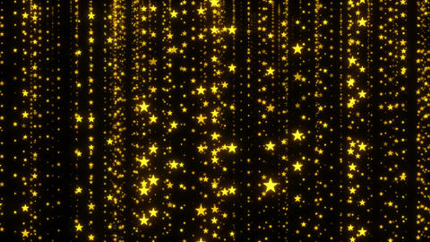 Golden Sparkling Stars Background Animation