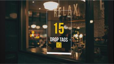 Drop Tags V3 After Effects Template