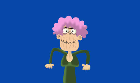 Old lady happy Animation