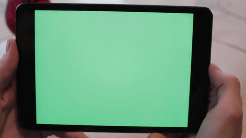 Green screen tablet Filmmaterial