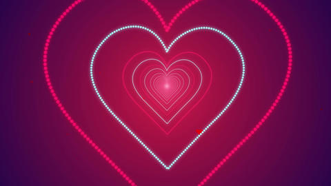 Heart Shape Seamless Looped Tunnel Zoom Romantic Background for your event, titl Animation
