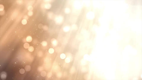 Lights Golden Bokeh With Spotlights and Rays Lens Flares Abstract Motion Backgro Animation