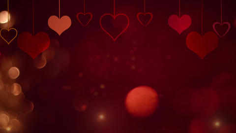 Romantic flying love heart wedding background. For St. Valentines Day, Mother's  Footage