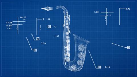 Saxophone Concept Design CG動画素材
