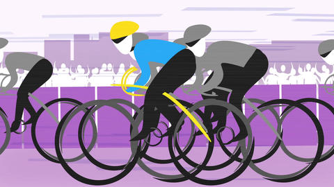 Cycling Race CG動画素材