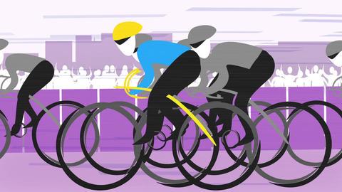Cycling Race Animation