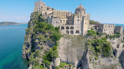 Church at Aragonese Castle near Ischia, European Restoration Institute site Footage