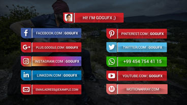 SOCIAL MEDIA LOWERTHIRDS Template After Effect