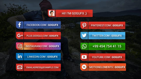 SOCIAL MEDIA LOWERTHIRDS After Effects Template