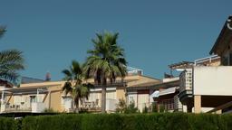 Spain Mallorca Island Cala Blava 032 spanish real estate backyard with hedge Footage