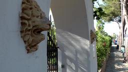 Spain Mallorca Island Cala Blava 037 whitewashed portal of a spanish estates Footage