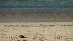 Spain Mallorca Island Palma Can Pastilla 009 close up of sea water over sands Footage