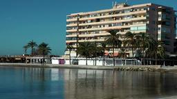 Spain Mallorca Island Palma Can Pastilla 010 apartment building in small bay Footage