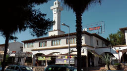 Spain Mallorca Island Playa de Palma 022 RIU Palace discotheque with clock tower Footage