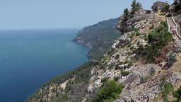 Spain Mallorca Island various 012 amazing west coast landscape Footage