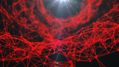 Stylish abstract engineering, technology and science motion background. Plexus s CG動画素材