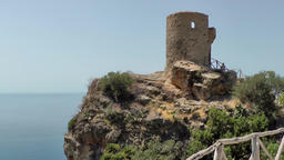 Spain Mallorca Island various 038 pirate watchtower with footbridge on a plateau