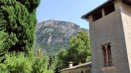 Spain Mallorca Island various 040 villa in the village Deia Footage