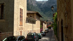 Spain Mallorca Island various 041 beautiful street view in old village Deia Footage