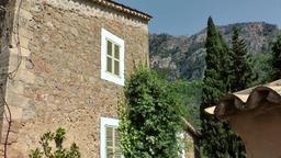 Spain Mallorca Island various 043 idyllic mood in west coast village Deia Footage