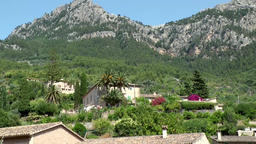 Spain Mallorca Island various 047 few houses of village in green valley Footage