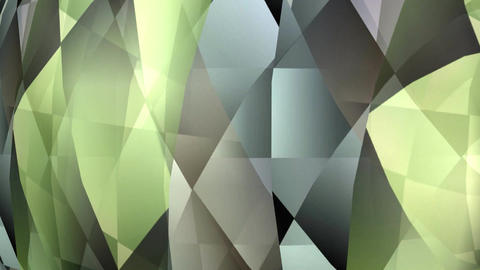 Abstract green and grey polygonal texture rotating, animated video background, F Animation