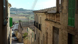 Spain Mallorca Island mountain village Montuiri 001 houses and island landscape Footage