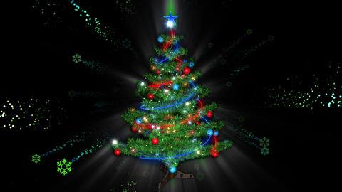 Christmas Tree 02 Vj Loop Animation