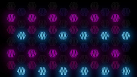 Hex Spot Light 04 Vj Loop Animation