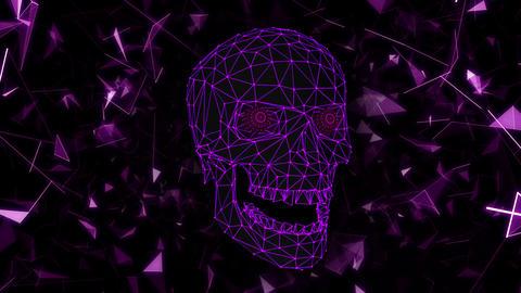 Polygon Skull 01 Vj Loop Animation