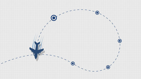 Aircraft trajectory Animation