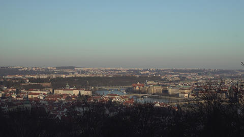 Panoramic View of Prague, Czech Republic Footage