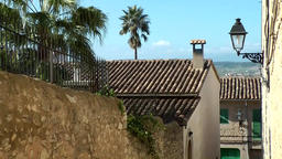 Spain Mallorca Island mountain village Montuiri 006 houses, roofs and alleys Footage