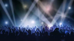 Music scene dancing Animation