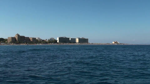 Tracking shot of the coast of Rhodes Footage