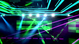 3D dazzling stage lights colorful particles Animation
