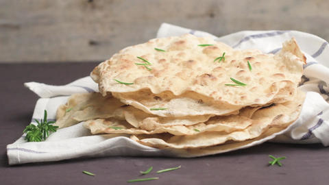 Homemade hot chapati Footage