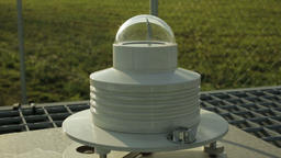 Professional meteorological instrument automatic heliograph Footage