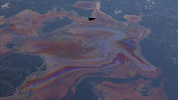 Dump toxic waste, oil lagoon contaminated oil water, soil Footage