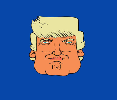 Trump Head expressions Stock Video Footage