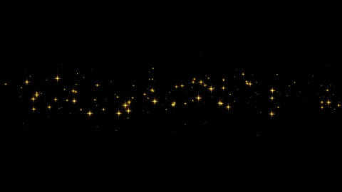 Gold particles from left to right Animación