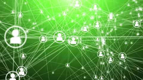 Lines and men icons forming a mesh on a green Animation