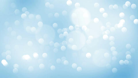 Abstract video background. Blue bubbles. Shiny snow Animation