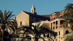 Spain Palma de Mallorca 061 old district Dalt Murada with church Footage