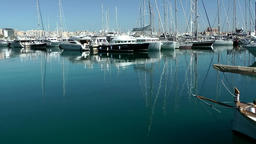 Spain Palma de Mallorca 066 marina with mirror images in turquoise water Footage