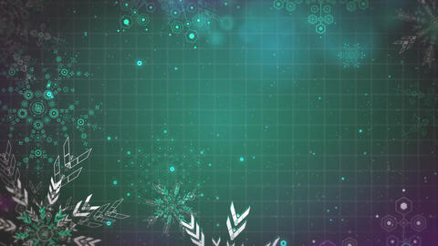 Gentle Christmas snowflakes seamlessly loop-able Background animation Archivo