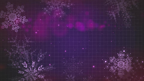 Multipurpose abstract background animation falling snowflakes seamlessly loop-ab