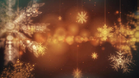 Snow Flakes Falling Animated Festive Abstract Motion loop Background Footage
