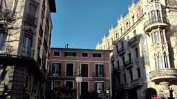 Spain Palma de Mallorca 093 Spanish houses at Placa de Sant Antoni square Footage